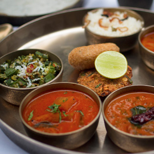 Sumptuous Konkan Thali at The Konkan Café