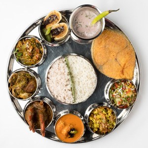 Seafood, Meat or Vegetarian Thali at Morisco