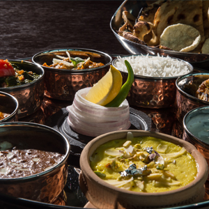 Thalis of North India at Bombay Brasserie