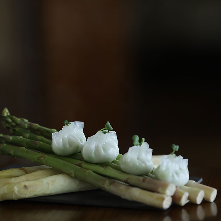 Due Of Asparagus Dumpling