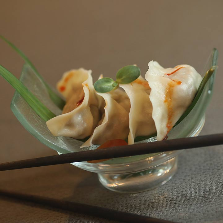 Edamame And Pickled Chili Dimsum