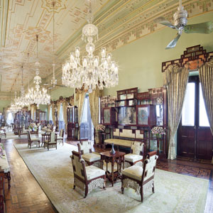 The Jade room,Taj Falaknuma Palace, Hyderabad